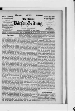 Berliner Börsen-Zeitung vom 18.04.1895
