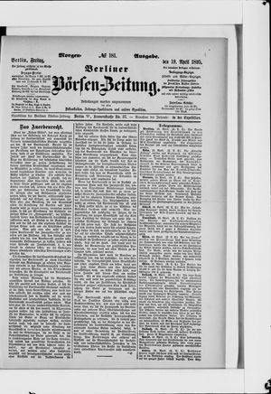 Berliner Börsen-Zeitung vom 19.04.1895