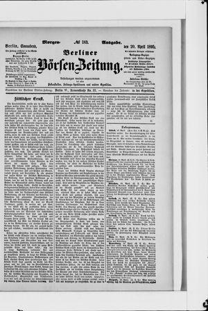 Berliner Börsen-Zeitung vom 20.04.1895