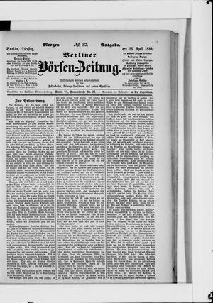 Berliner Börsen-Zeitung vom 23.04.1895