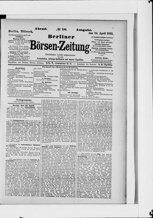Berliner Börsen-Zeitung vom 24.04.1895