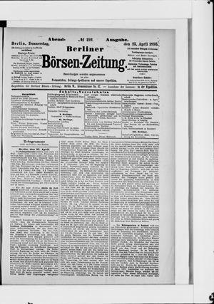 Berliner Börsen-Zeitung vom 25.04.1895