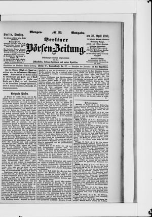 Berliner Börsen-Zeitung vom 30.04.1895