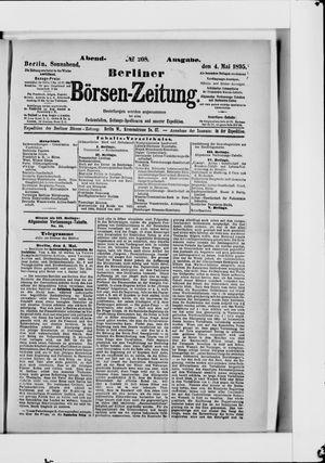 Berliner Börsen-Zeitung vom 04.05.1895