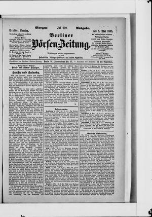 Berliner Börsen-Zeitung vom 05.05.1895