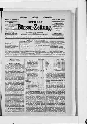 Berliner Börsen-Zeitung vom 08.05.1895