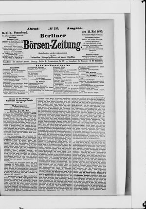 Berliner Börsen-Zeitung vom 11.05.1895