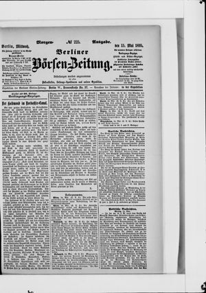 Berliner Börsen-Zeitung vom 15.05.1895