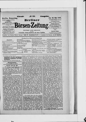 Berliner Börsen-Zeitung vom 16.05.1895