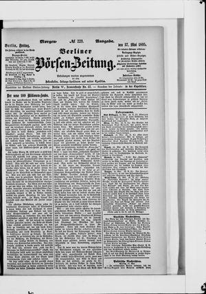 Berliner Börsen-Zeitung vom 17.05.1895