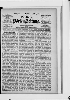 Berliner Börsen-Zeitung vom 21.05.1895