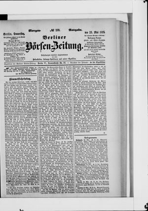 Berliner Börsen-Zeitung vom 23.05.1895