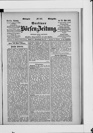 Berliner Börsen-Zeitung vom 26.05.1895
