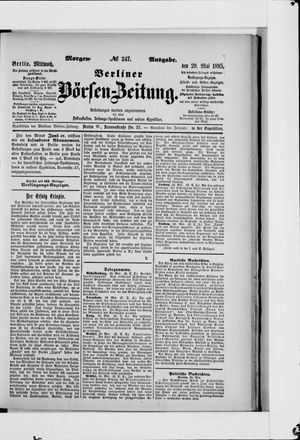 Berliner Börsen-Zeitung vom 29.05.1895