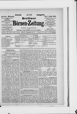 Berliner Börsen-Zeitung vom 05.06.1895