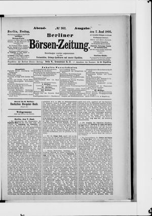 Berliner Börsen-Zeitung vom 07.06.1895