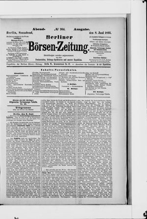 Berliner Börsen-Zeitung vom 08.06.1895