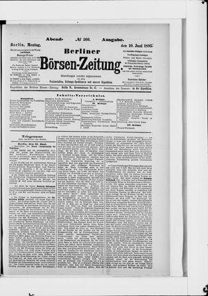 Berliner Börsen-Zeitung vom 10.06.1895