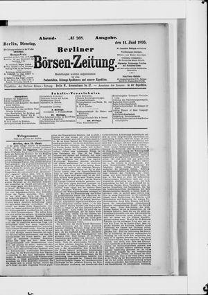Berliner Börsen-Zeitung vom 11.06.1895