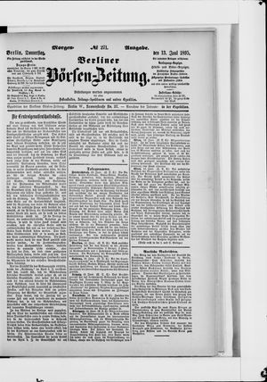 Berliner Börsen-Zeitung vom 13.06.1895