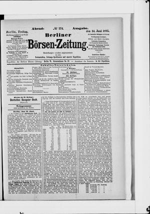 Berliner Börsen-Zeitung vom 14.06.1895