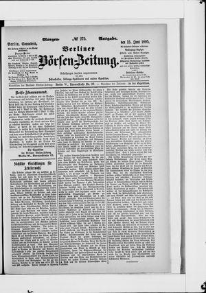 Berliner Börsen-Zeitung vom 15.06.1895