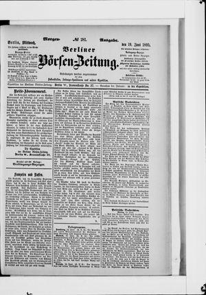 Berliner Börsen-Zeitung vom 19.06.1895