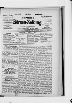 Berliner Börsen-Zeitung vom 21.06.1895