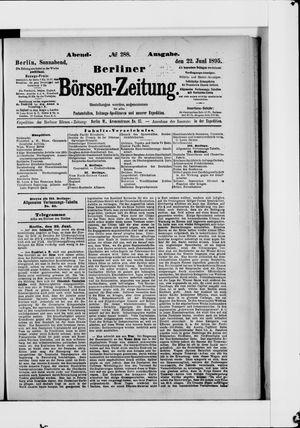 Berliner Börsen-Zeitung vom 22.06.1895