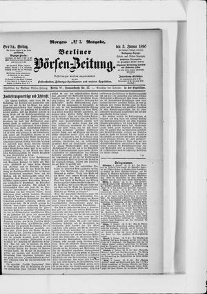 Berliner Börsen-Zeitung on Jan 3, 1896
