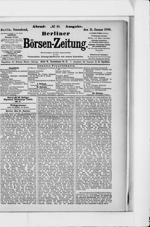 Berliner Börsen-Zeitung vom 11.01.1896