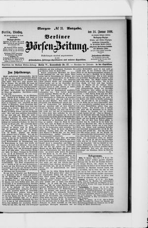 Berliner Börsen-Zeitung vom 14.01.1896