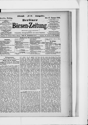 Berliner Börsen-Zeitung vom 17.01.1896