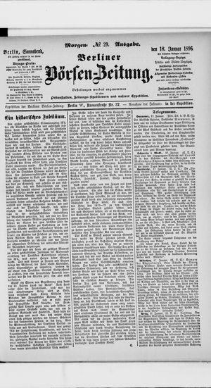 Berliner Börsen-Zeitung vom 18.01.1896