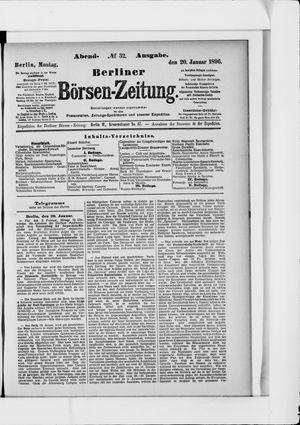 Berliner Börsen-Zeitung vom 20.01.1896