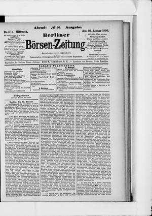 Berliner Börsen-Zeitung on Jan 22, 1896