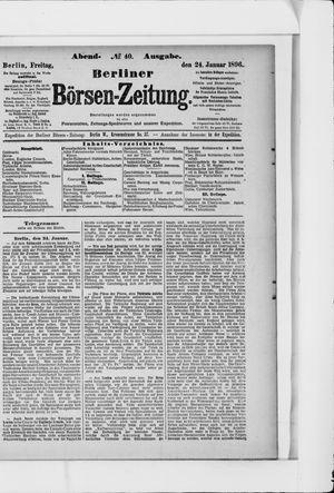 Berliner Börsen-Zeitung vom 24.01.1896