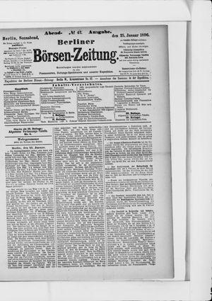 Berliner Börsen-Zeitung vom 25.01.1896