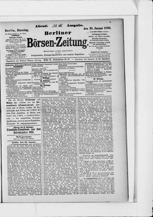 Berliner Börsen-Zeitung on Jan 28, 1896