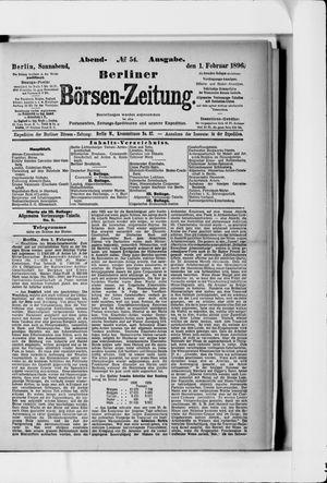 Berliner Börsen-Zeitung vom 01.02.1896