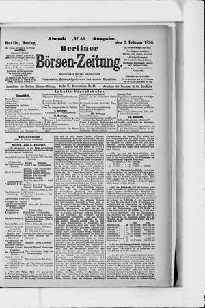 Berliner Börsen-Zeitung vom 03.02.1896
