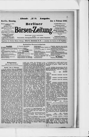 Berliner Börsen-Zeitung vom 04.02.1896