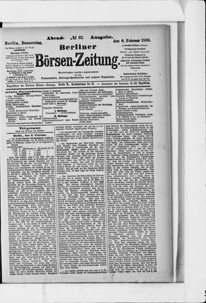 Berliner Börsen-Zeitung vom 06.02.1896