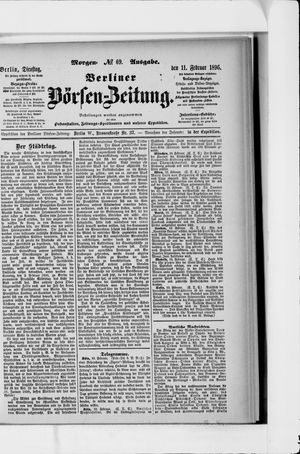 Berliner Börsen-Zeitung vom 11.02.1896