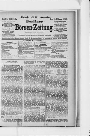 Berliner Börsen-Zeitung vom 12.02.1896