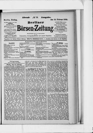 Berliner Börsen-Zeitung vom 14.02.1896