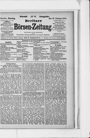Berliner Börsen-Zeitung vom 18.02.1896