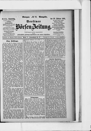Berliner Börsen-Zeitung on Feb 20, 1896