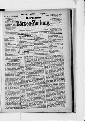 Berliner Börsen-Zeitung vom 22.02.1896
