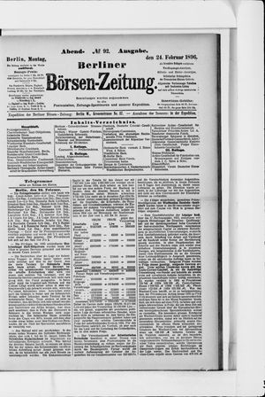 Berliner Börsen-Zeitung vom 24.02.1896